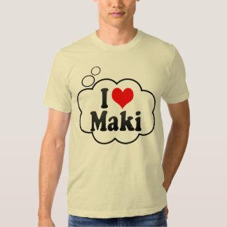 I Love Maki, Japan. Aisuru Maki, Japan T Shirts