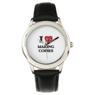 I love Making Copies Wristwatch