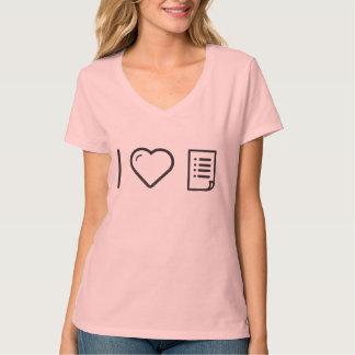 I Love Making Lists T-Shirt