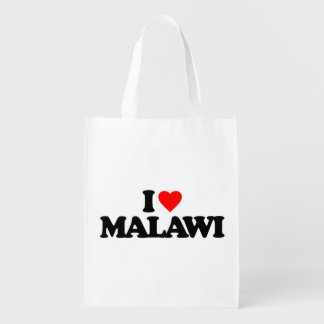 I LOVE MALAWI REUSABLE GROCERY BAG