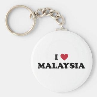 I Love Malaysia Keychain