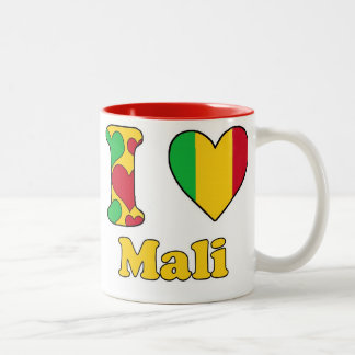 I love Mali Two-Tone Coffee Mug