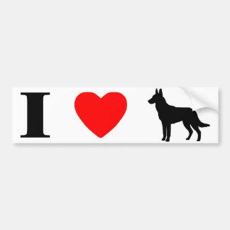 I Love Malinois Bumper Sticker