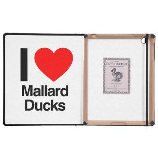 i love mallard ducks iPad folio cases