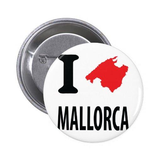 I love Mallorca contour icon Pinback Button