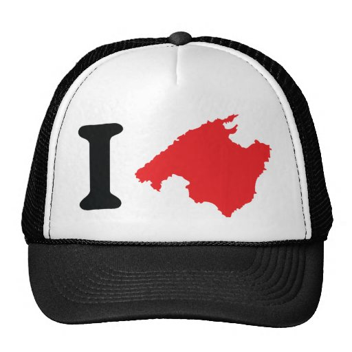 I love mallorca contour symbol hats