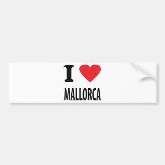 I love mallorca icon bumper sticker
