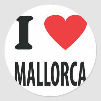 I love mallorca icon classic round sticker