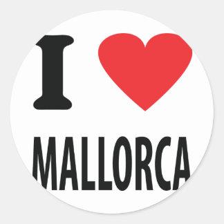 I love mallorca icon round stickers