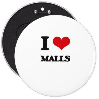 I Love Malls Pinback Button