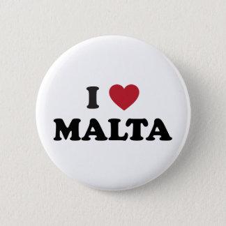 I Love Malta 2 Inch Round Button