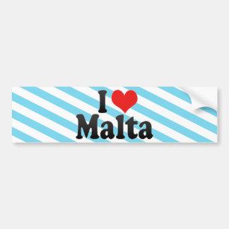I Love Malta Bumper Sticker
