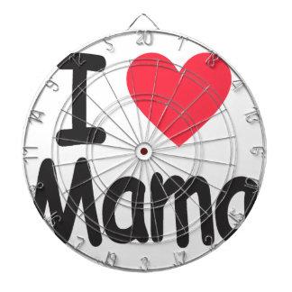 I love mamma, mom, mother dartboard with darts