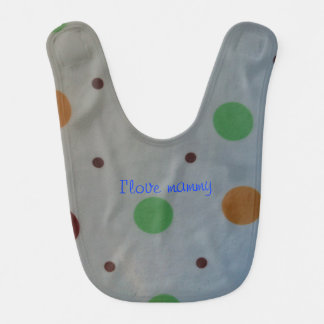 I love mammy dots baby bid bib