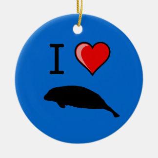 I Love Manatees Ornament