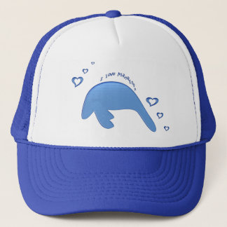 I Love Manatees Trucker Hat