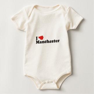 I love Manchester Baby Bodysuit