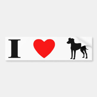 I Love Manchester Terriers Bumper Sticker