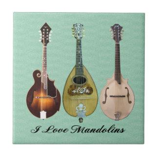 I LOVE MANDOLINS TILE