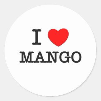 I Love Mango Round Sticker