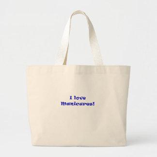 I Love Manicures Large Tote Bag