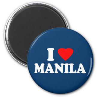 I Love Manila 2 Inch Round Magnet