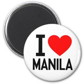I Love Manila Refrigerator Magnets