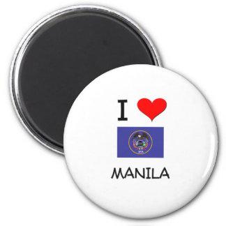 I Love Manila Utah Magnets