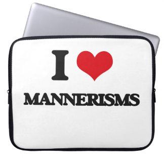 I Love Mannerisms Laptop Computer Sleeve