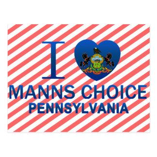I Love Manns Choice, PA Postcard