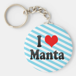 I Love Manta, Ecuador Keychain