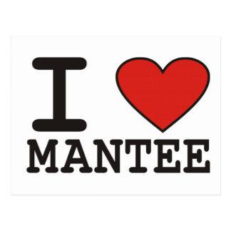 I Love Mantee Postcard