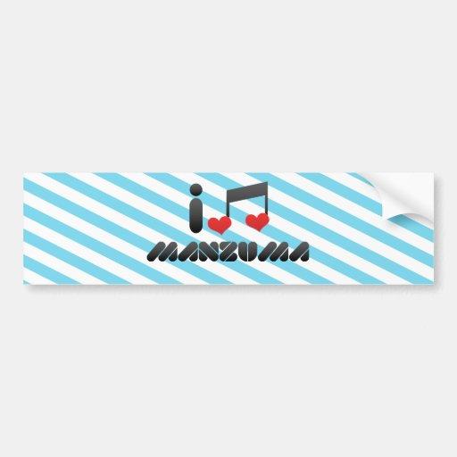 I Love Manzuma Bumper Stickers