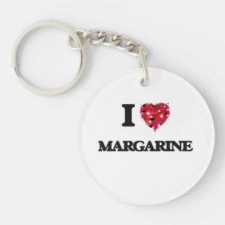 I Love Margarine Keychain
