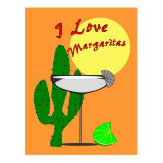 I love margaritas--Margarita Lovers T-Shirts Postcard