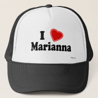 I Love Marianna Trucker Hat