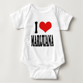 I Love Marijuana Baby Bodysuit