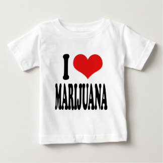 I Love Marijuana Baby T-Shirt