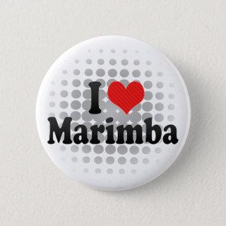 I Love Marimba 2 Inch Round Button