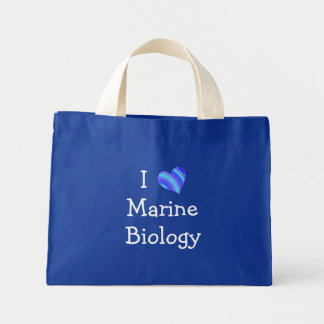 I Love Marine Biology Mini Tote Bag