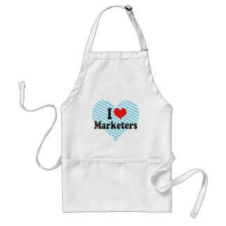 I Love Marketers Aprons