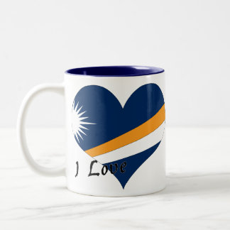 I Love Marshall Islands Two-Tone Coffee Mug