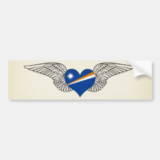I Love Marshall Islands -wings Bumper Sticker