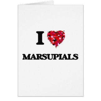 I Love Marsupials Greeting Card