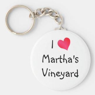 I Love Martha's Vineyard Basic Round Button Keychain