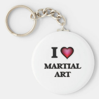 I Love Martial Art Keychain