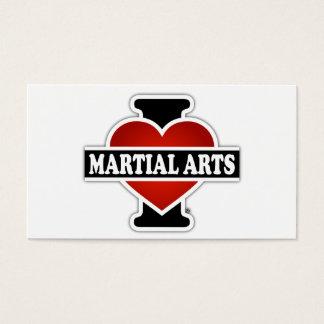 I Love Martial Arts Business Card