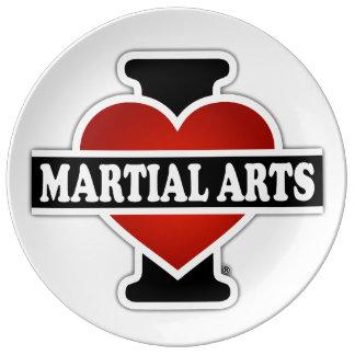 I Love Martial Arts Porcelain Plate