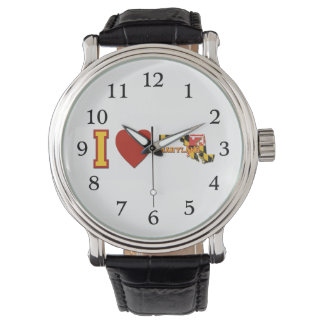 I Love Maryland Wrist Watches