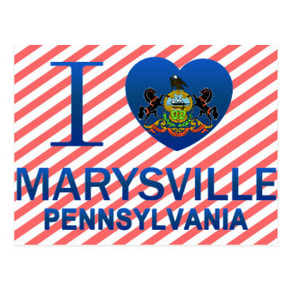 I Love Marysville, PA Postcard